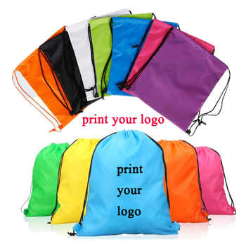100pcs Custom logo bags high quality material 210D polyester drawstring backpack make logo bgs print logo black bags - SALE ITEM - Category 🛒 Luggage & Bags