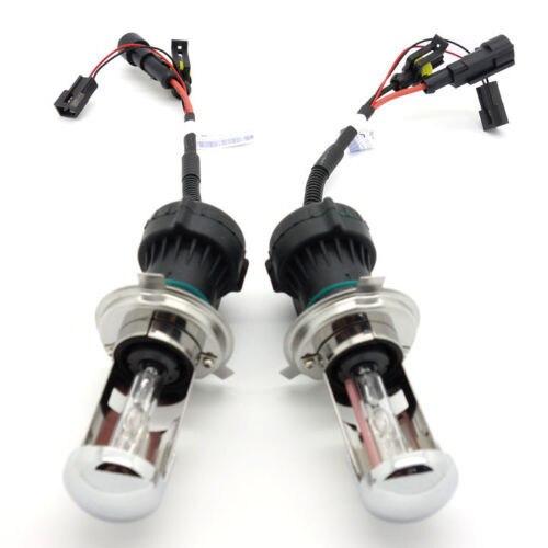 iPobooTech 2pcs Super Power AC 55W Car HID Xenon Headlight H4-3 10000K Hi/Lo AC Bulbs Lamp
