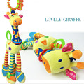 Free shipping The giraffe car hanging bed the bell Infants  plush bell BB tooth gum Newborn baby teddy kids toy