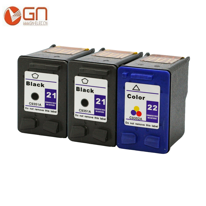 2*BK / 1*C  remanufactured ink cartridge for HP 21XL 22XL for HP OfficeJet 4315 4315v 4315xi 5600 5605 J3608 J3625 J3635printers 2pk for hp 61xl remanufactured ink cartridge bk