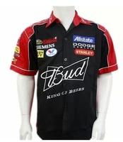 2018 homens NOVOS da marca budweiser F1 terno camisa da equipe do clube de verão macacão off road carro camisas jaqueta de motocross