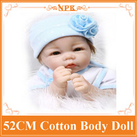 Very Good Looking 52cm 21inch NPK Brand Silicone Reborn Baby Dolls With Cotton Mixed Fabric Two