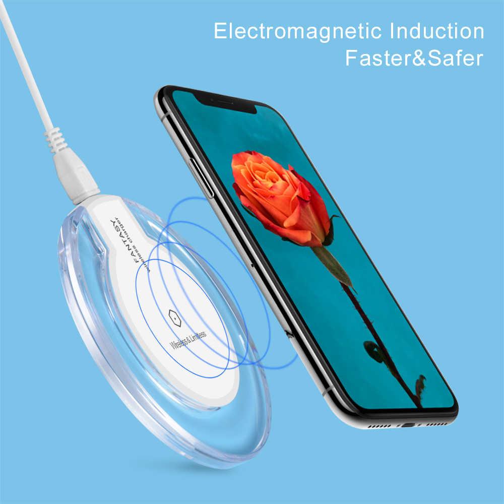Olaf qi carregador sem fio para iphone xs max xr telefone led usb carregador sem fio de carregamento rápido para samsung galaxy s8 s9 mais adaptador