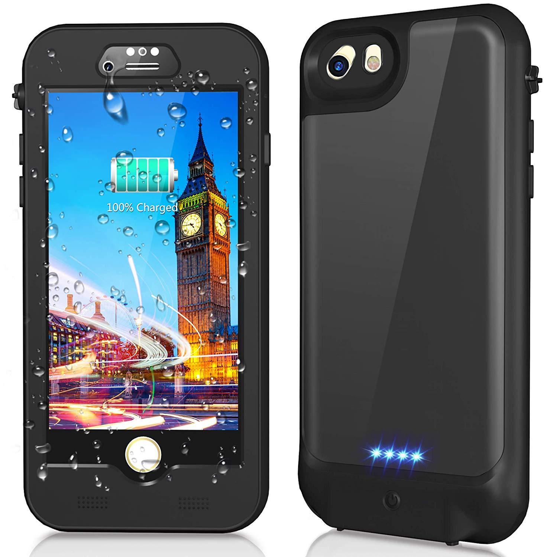 Pour iPhone 7/8 étui étanche Ultra mince 3000 mAh batterie externe boîtier étanche couvercle de chargeur de batterie IP68 pour étui iPhone7