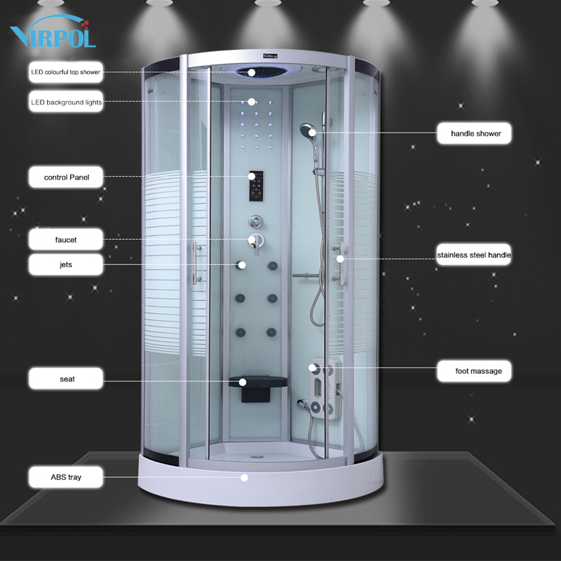 18 80cm Luxury Shower Cubicle Bathroom Quadrant NO Steam Enclosure ...