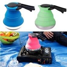 Tragbare Falten Wasserkocher Faltbare Silikon Gasherd Tee Wasserkocher für Outdoor-reisen Camping Picknick Elektrische Topf Heizung