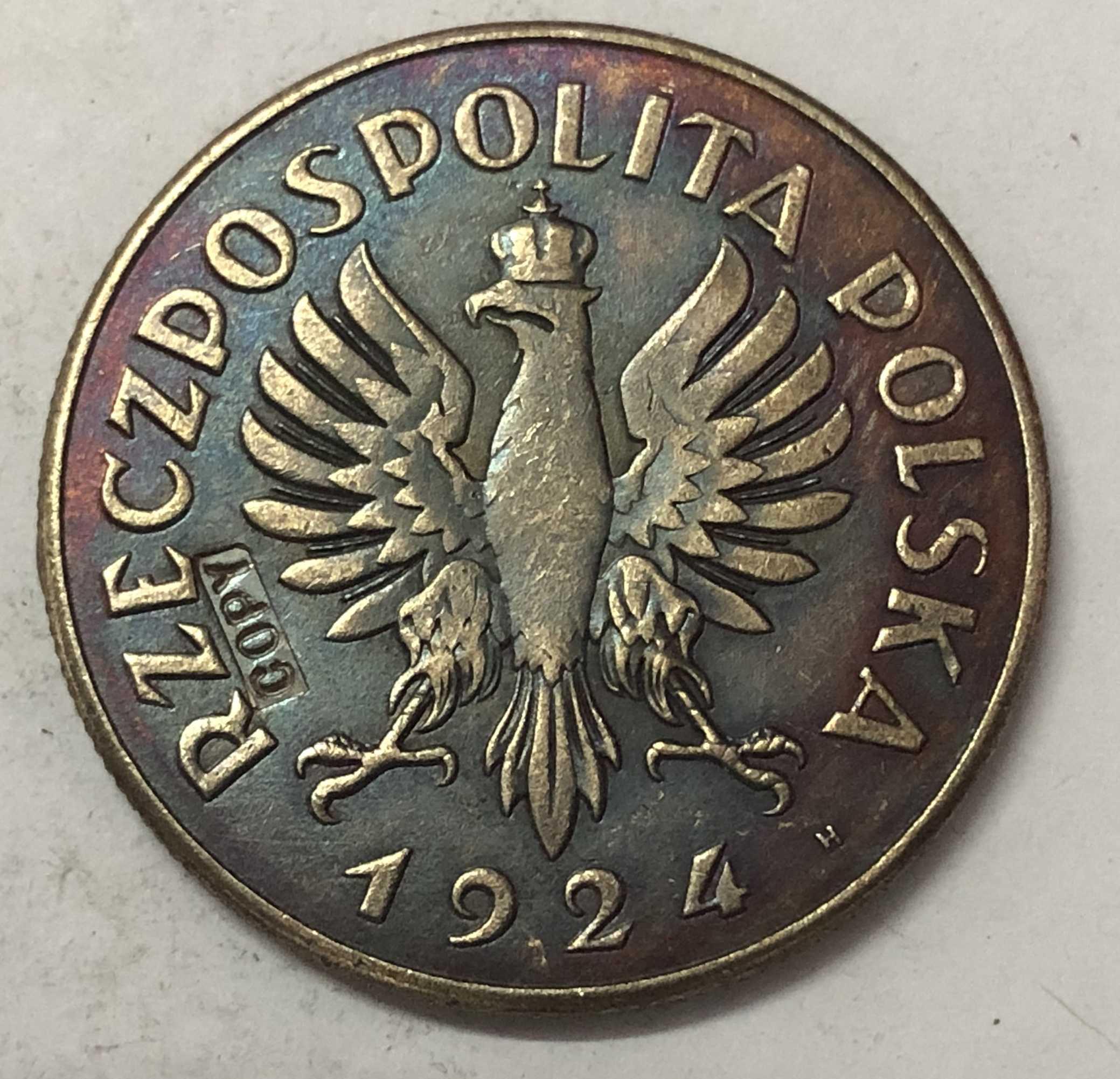 1924 Polónia 2 Zlote Mulher e Ouvidos