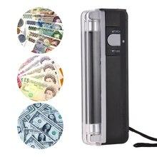 2-в-1 Портативный для денег, детектор поддельный валюта наличных денег банкнота контрольно-измерительный прибор с UV светильник флэш-светильник