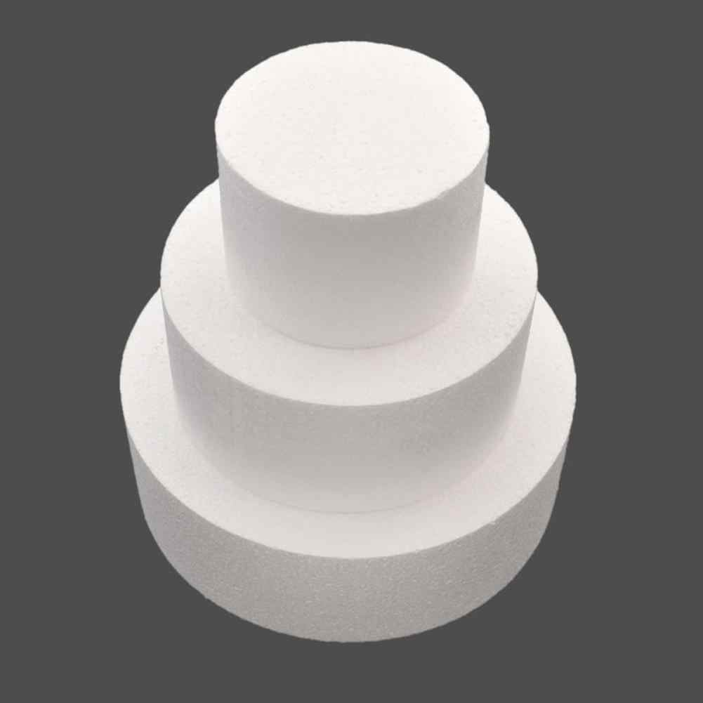 HOT SALE! DIY Round Styrofoam Foam Cake Dummy Sugarcraft Flower Decor Patrice Model Kitchen Baking Tool