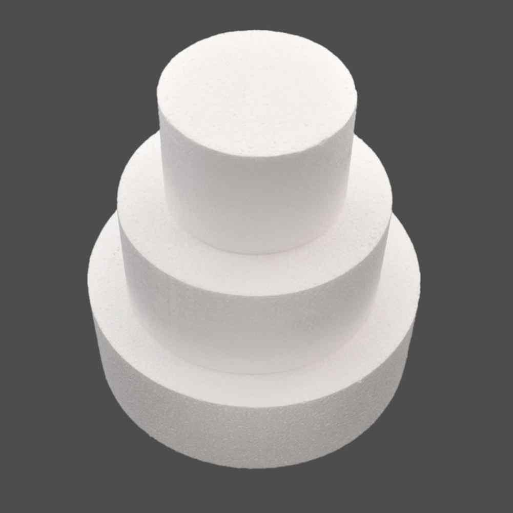 HOT SALE! DIY Round Styrofoam Foam Cake Dummy Sugarcraft Flower Decor Patrice Model Kitchen Baking Tool