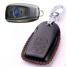 Высокое качество! особый случай ключа автомобиля для Subaru Forester 2017-2015 износостойкой крышка ключ кожа ключа автомобиля кошелек, бесплатная доставка