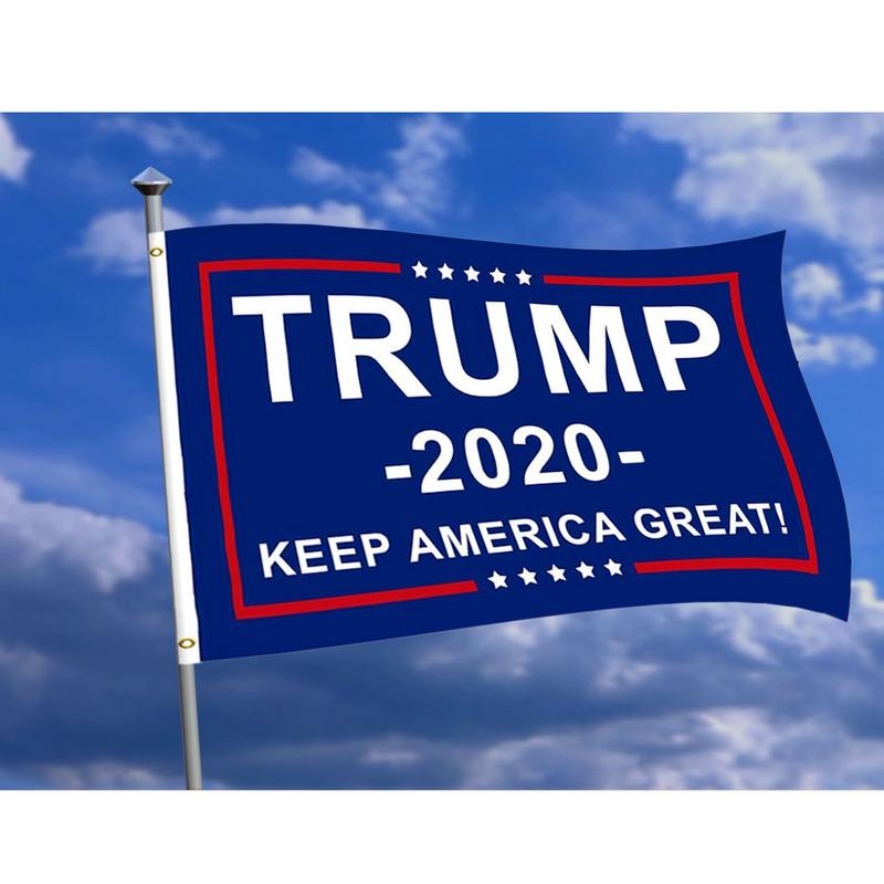 America Flags <font><b>Trump</b></font> <font><b>2020</b></font> 90x150 60x90 30*45CM Double Sided Printed Garden Banner Hand flags For President USA image
