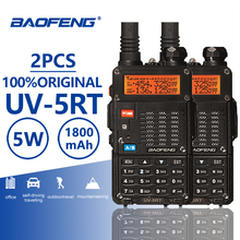 2pcs Baofeng UV-5RT Walkie Talke Radio Comunicador UV 5RT CB Scanner Advanced UV-5R Walky Talky Professional UV5R