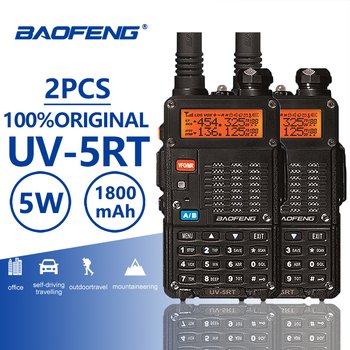 2pcs Baofeng UV-5RT Walkie Talke Radio Comunicador UV 5RT CB Radio Scanner Advanced Baofeng UV-5R Walky Talky Professional UV5R