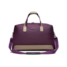 Wobag Patchwork Leather Men Travel Duffle Bags Waterproof Oxford Women Travel Bag Large capacity Tote Luggage Shoulder Bag