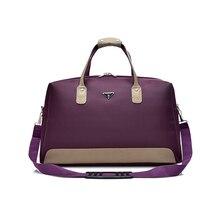 Wobag المرقعة جلدية الرجال السفر حقائب قماش مقاوم للماء أكسفورد المرأة حقيبة سفر سعة كبيرة حمل حقيبة كتف الأمتعة