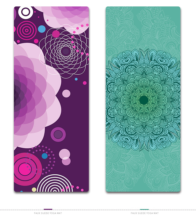 Free Shipping Heat Transfer Printing High Quality 4mm Thickness Natural Rubber Yoga Mat Print Yoga Mats Aliexpress