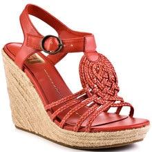 Red Rope Wedges Women Sandals Platform Open Toe Casual Women Shoes High Heels Summer Style Platform Wedge Sandals Twist Braid