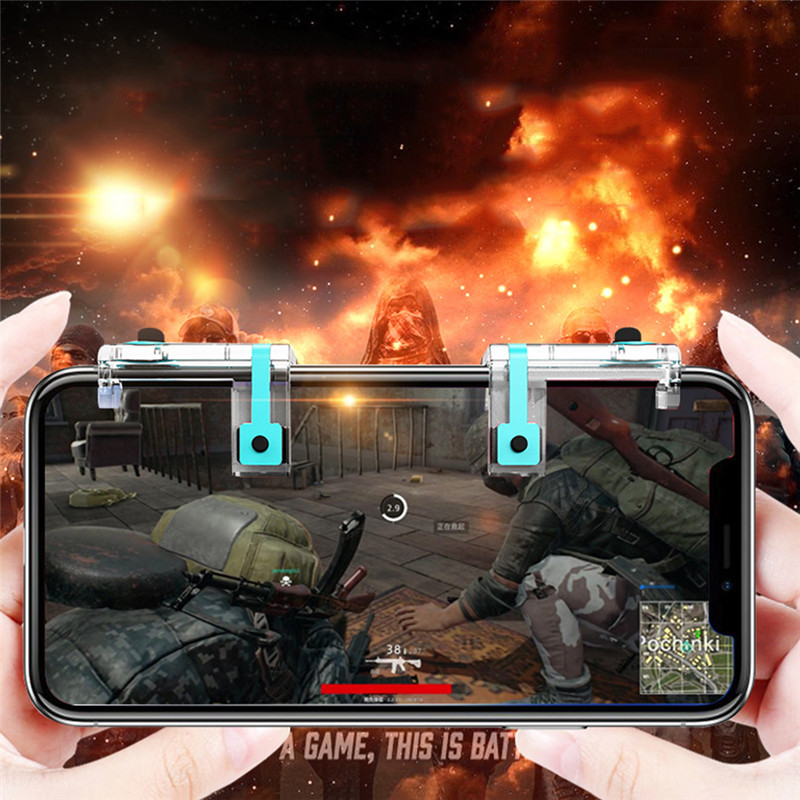Mobile Game Fire Button Aim Key Smart phone Mobile Game Trigger L1R1 Shooter Controller PUBG V6.0 Knives out Rules of Survival