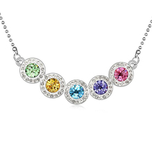 Hot New 2016 Fashion Necklace Pendants For Women Jewelry Crystal from Swarovski Elements White Gold Plated 10839