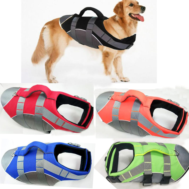 Dog Clothes Pet Dog Life Jacket Vest For Small Large Dogs Pug Labrador Golden Retriever Harness Saver Vests Oxford Clothing S-XL