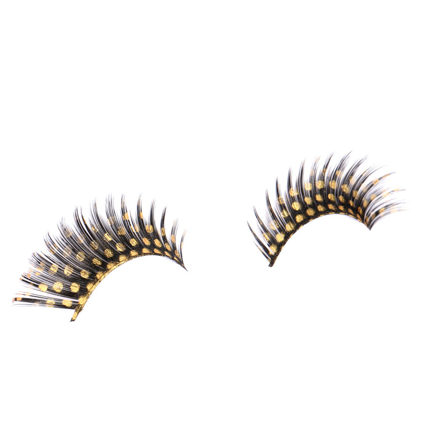 2017 A# makeup Women Halloween Stage Party Makeup Small Dots False Eyelashes makeup G