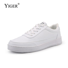 YIGER Men Casual shoes big size male sneakers man leisure white lace-up shoes Couple shoes comfortable male sports sneakers 0318 цена