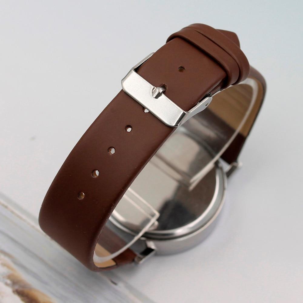 Watch Menzegarek mesk reloj hombre montre homme Three Eye Watches Quartz Men's Watch Blue Glass Belt Watch Men relogio masculino 5