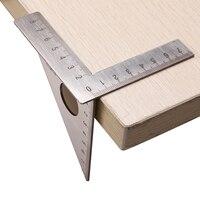 Ferramentas de medição de aço inoxidável carpintaria régua praça layout mitra triângulo rafter 45/90 graus medidor métrico