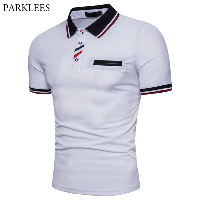 Striped Polo Shirt Men 2017 Brand New Summer Polo Shirt Hommes Slim Fit Short Sleeve Men Polo Shirt Casual White Camisa Polo 2XL men striped neck polo shirt
