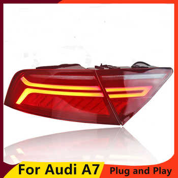 KOWELL Car Styling for Audi A7 Tail Lights 2011-2017 LED Tail Light Rear Lamp moving turn signal light Taillight Accessories - DISCOUNT ITEM  20% OFF All Category