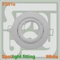 10pcs Lot Free Shipping High Quality Aluminum Spotlight Fitting Aluminium Body Holder Socket GU10 Silver Color