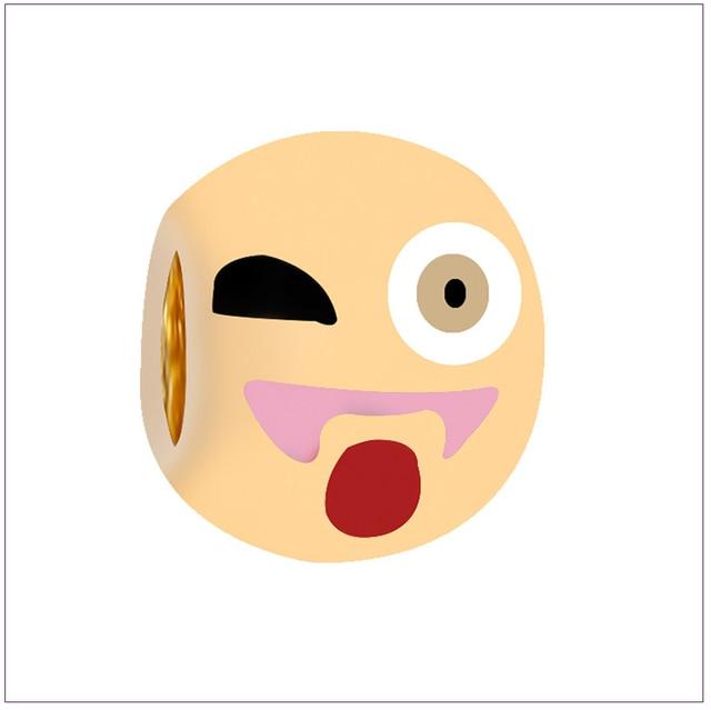 7 75 5 De Réduction Bricolage Couleur Or Bijoux En Gros Dessin Animé Chaud Smiley Barbe Boule D Or Emoji Perles Dans Perles De Bijoux Et