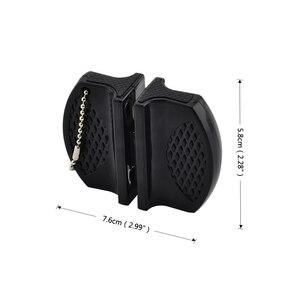Image 2 - Портативная мини точилка для кухонных ножей, кухонные инструменты, аксессуары, креативный Тип бабочки, двухступенчатая точилка для карманных ножей для кемпинга