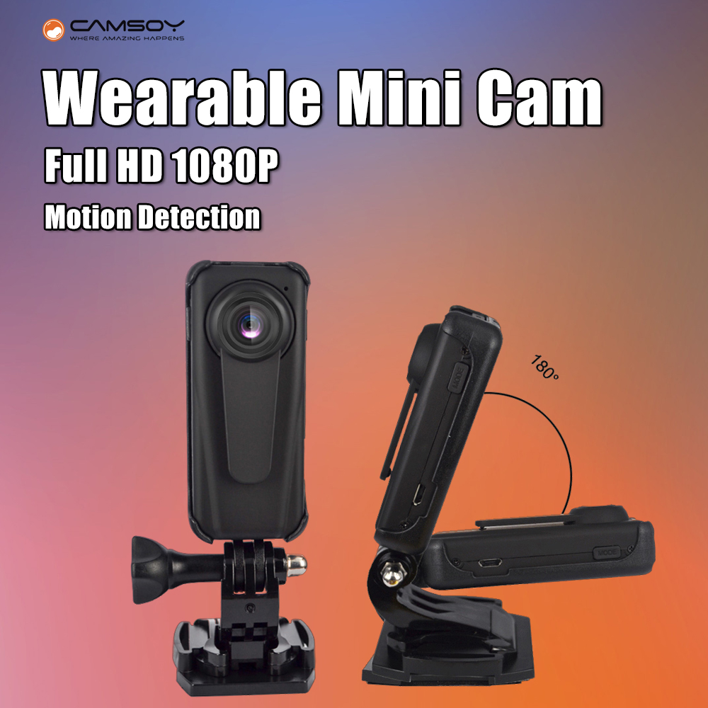 T10 Camera Security Guard Recorder DVR Body Pocket HD 1080P Mini Camera Motion Detection Video Camcorder w/850mAh Battery