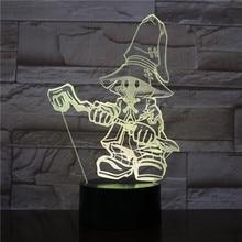 Game FINAL FANTASY IX 3D Table Lamp Touch Sensor Decorative Birthday Holiday Festival Gift VIVI Ornitier Night Light LED