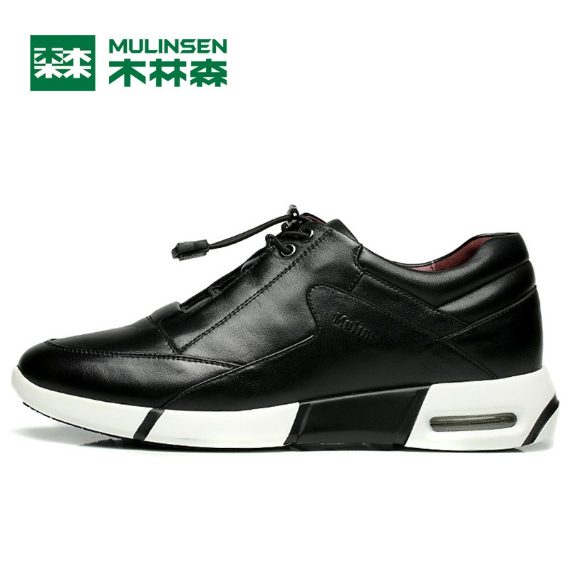 MuLinSen Men's Running Shoes black/blue Super Popular Outdoor Sport Shoes Best Quality Wear Non-slip Sport Sneakers 260080 mulinsen men s running shoes blue black red gray outdoor running sport shoes breathable non slip sport sneakers 270235