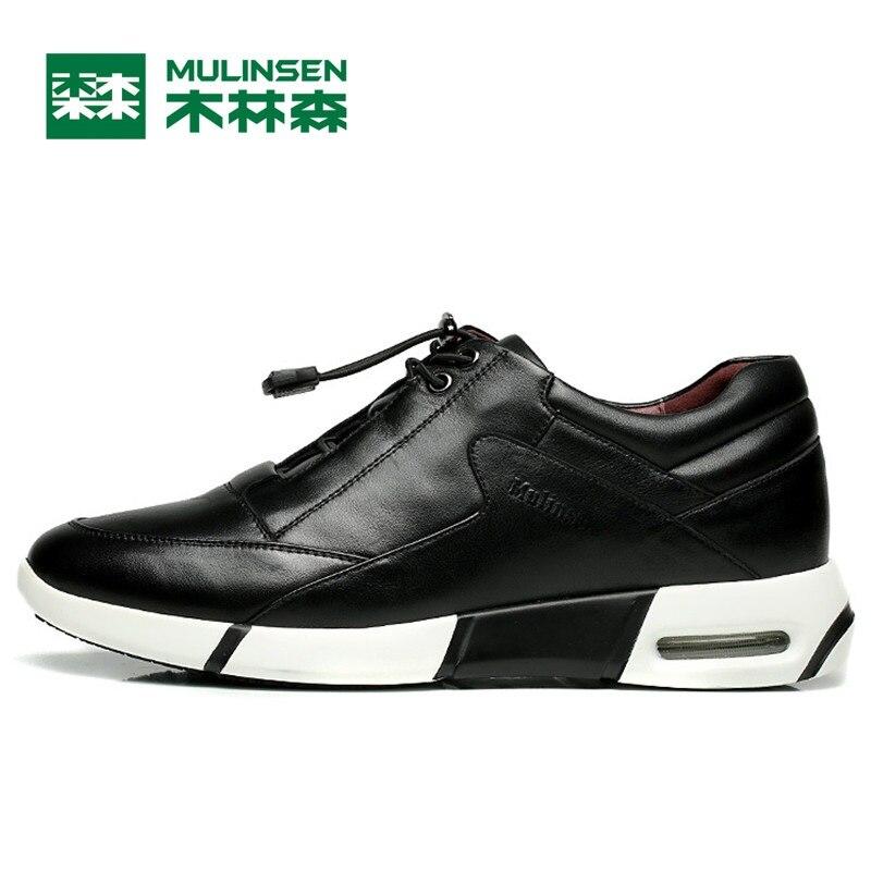 Prix pour Mulinsen hommes de chaussures de course noir/bleu super populaire en plein air sport chaussures meilleure qualité porter non-slip sport sneakers 260080