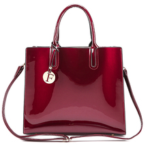 Women Bag Leather Handbag Shoulder Large Capacity Totes Crossbody Luxury Designer Lady Lacquered