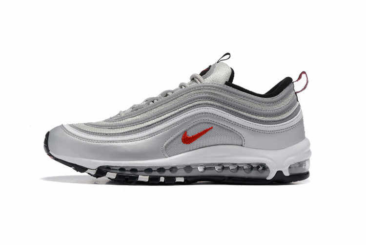 more photos 41a27 9e9c1 Classic Nike Air Max 97 Silver OG Retro Men Breathable 3M Badminton Shoes,Male  Low