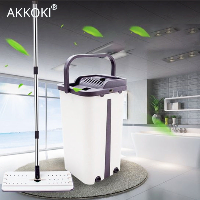 Magic Automatic Spin Mop With Bucket Free Hand Washing Microfiber Cleaning Cloth Home Kitchen Wooden Floor
