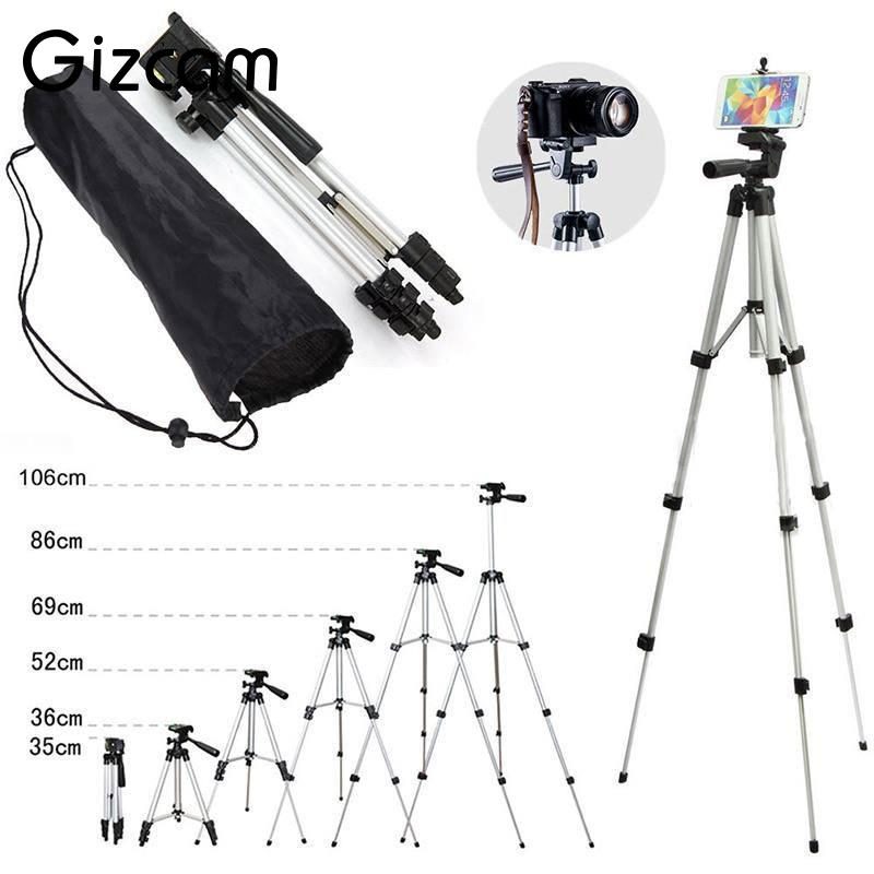 Gizcam Professional Foldable Extendable Aluminum mini Tripod Mount Stand Mobile Phone Digital Cameras Camcorder Tripods anti rust tripod for mp4 cellphones digital cameras black