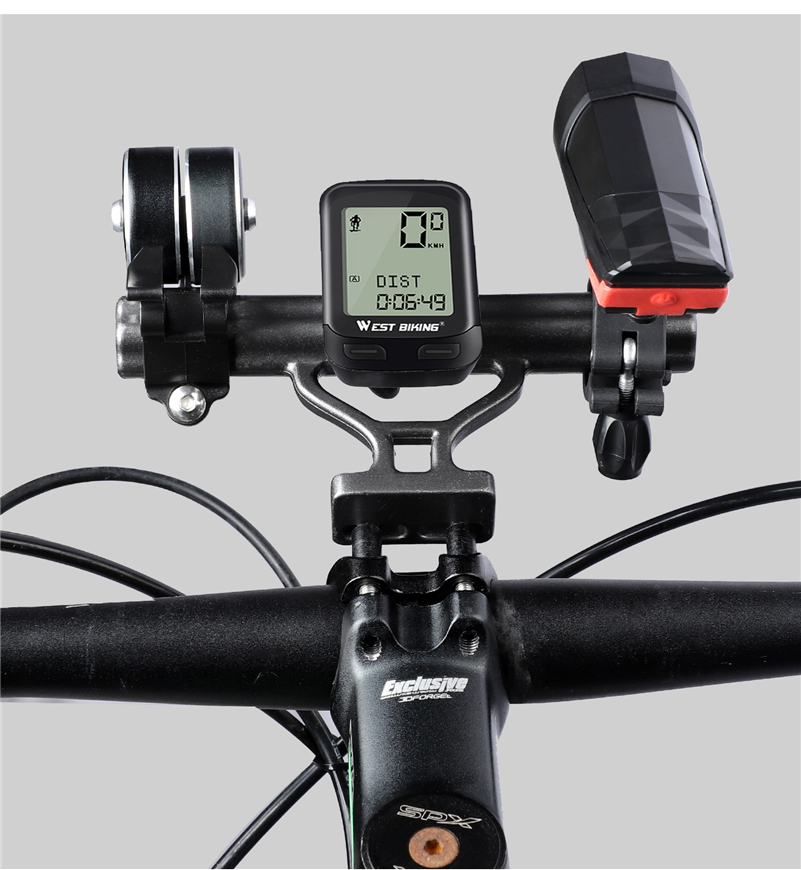 MTB Bike Flashlight Holder Handlebar Bicycle Accessories Extender Mount Bracket