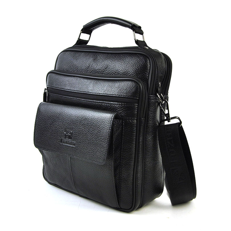 Men's Genuine Leather Messenger Bag Classic Shoulder Crossbody  Satchel Bags Male Cowhide Flap Relly Cow Leather Handbags men crossbody bag messenger shoulder handbags cowhide genuine leather casual business satchel mens bags for male high quality