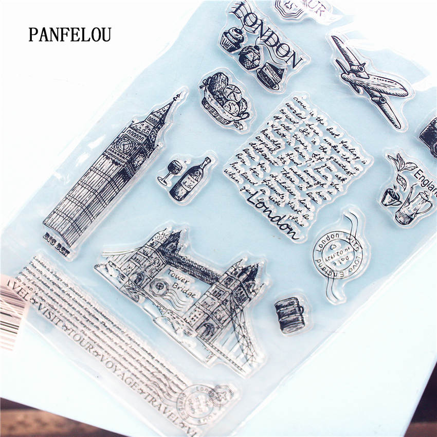 PANFELOU London bridge Clear Stamp DIY Silicone Seals Scrapbooking/Card Making/Photo Album Decoration Supplies sheets loving heart and ballon transparent clear stamp diy silicone seals scrapbooking card making photo album craft cl 285
