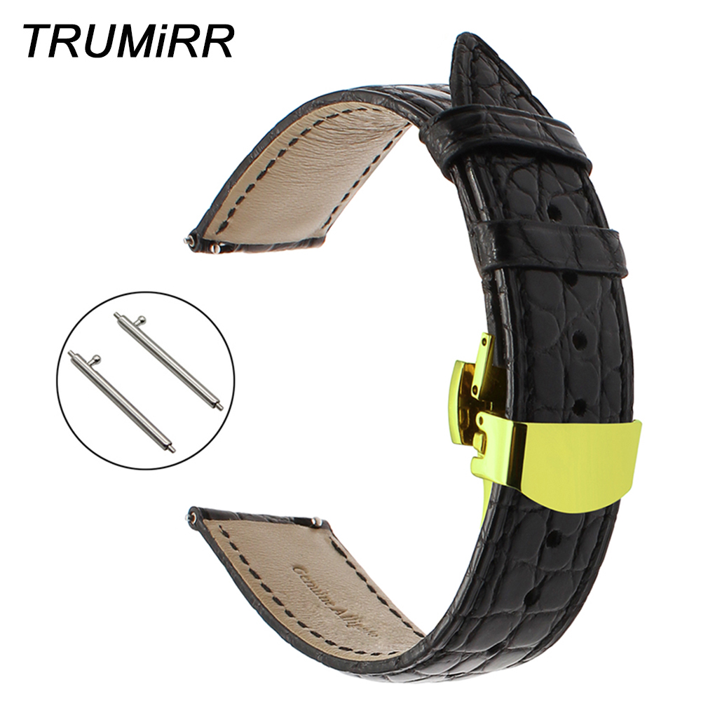 18mm 20mm 22mm Genuine Alligator Leather Watchband for Tissot Luminox Hamilton Seiko Citizen Quick Release Strap Watch Band Belt 2016 pro skype gaming stereo headphones headset earphone mic pc computer laptop sa 708 gaming headphones