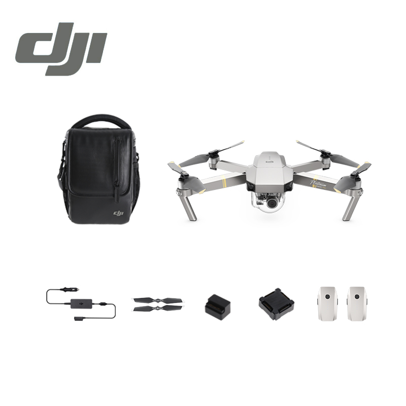 DJI Mavic Pro Platinum Fly More Combo 1080P with 4K Video Camera Drone RC Helicopter FPV Quadcopter Original drone dji spark fly more combo 1080p new mini portable fpv drone dji quadcopter 100% original