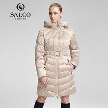 САЛКО 2016 новый женский хлопка мягкой одежды Российской монополии, которого долго куртка с капюшоном
