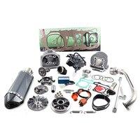 157QMJ 1P57QMJ 152QMI 1P52QI двигателя GY6 125 150 скутер цилиндр комплект Диаметр 57,4 мм Гонки выхлопных Chrome CDI Cam катушки масло
