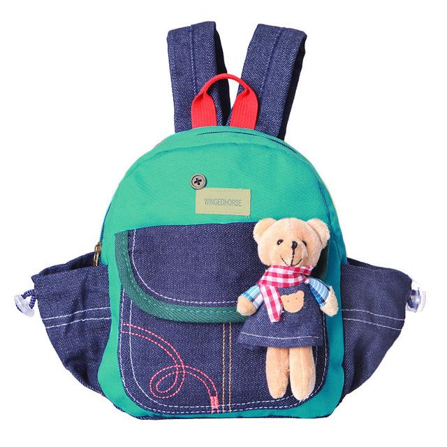 Crianças Mochilas De Pelúcia Urso Saco Mochila Infantil Mochila Da Moda Bonecas Meninas das Crianças Presentes Mini Schoolbag Coreano de Alta Qualidade